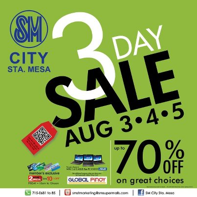 SM City Sta. Mesa 3-Day Sale August 2012