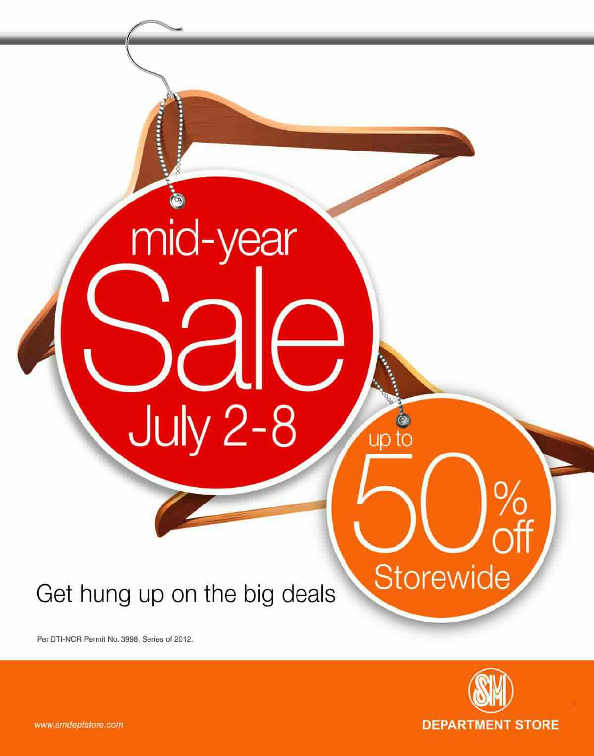 SM Department Store Mid-Year Sale July 2012
