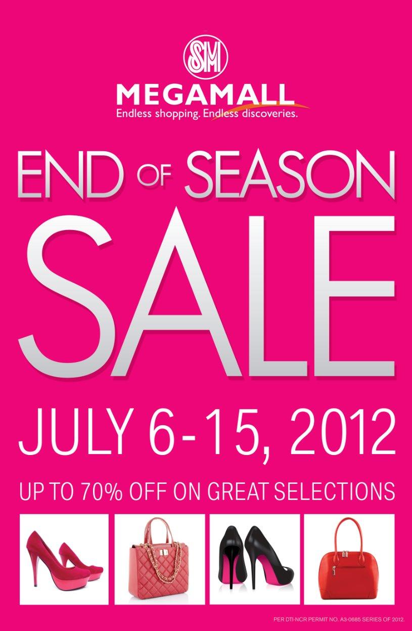 SM Megamall End of Season Sale July 2012