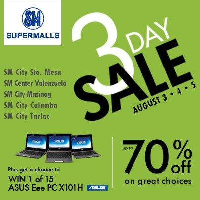SM Supermalls 3-day Sale August 2012 | Manila On Sale