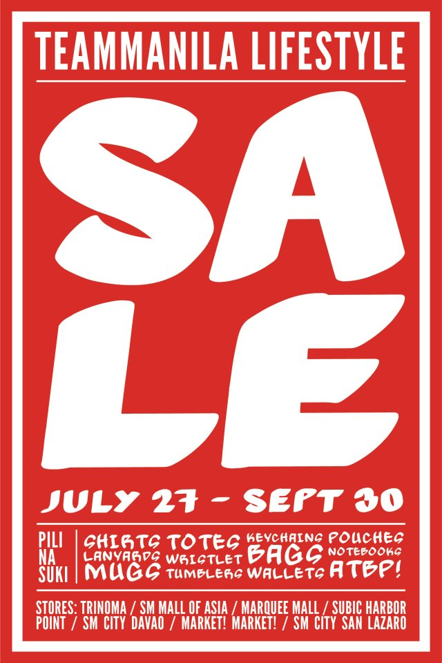 Team Manila Sale July - September 2012