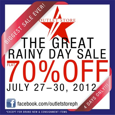 The Great Rainy Day Sale July 2012