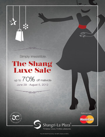 The Shang Luxe Sale June - August 2012