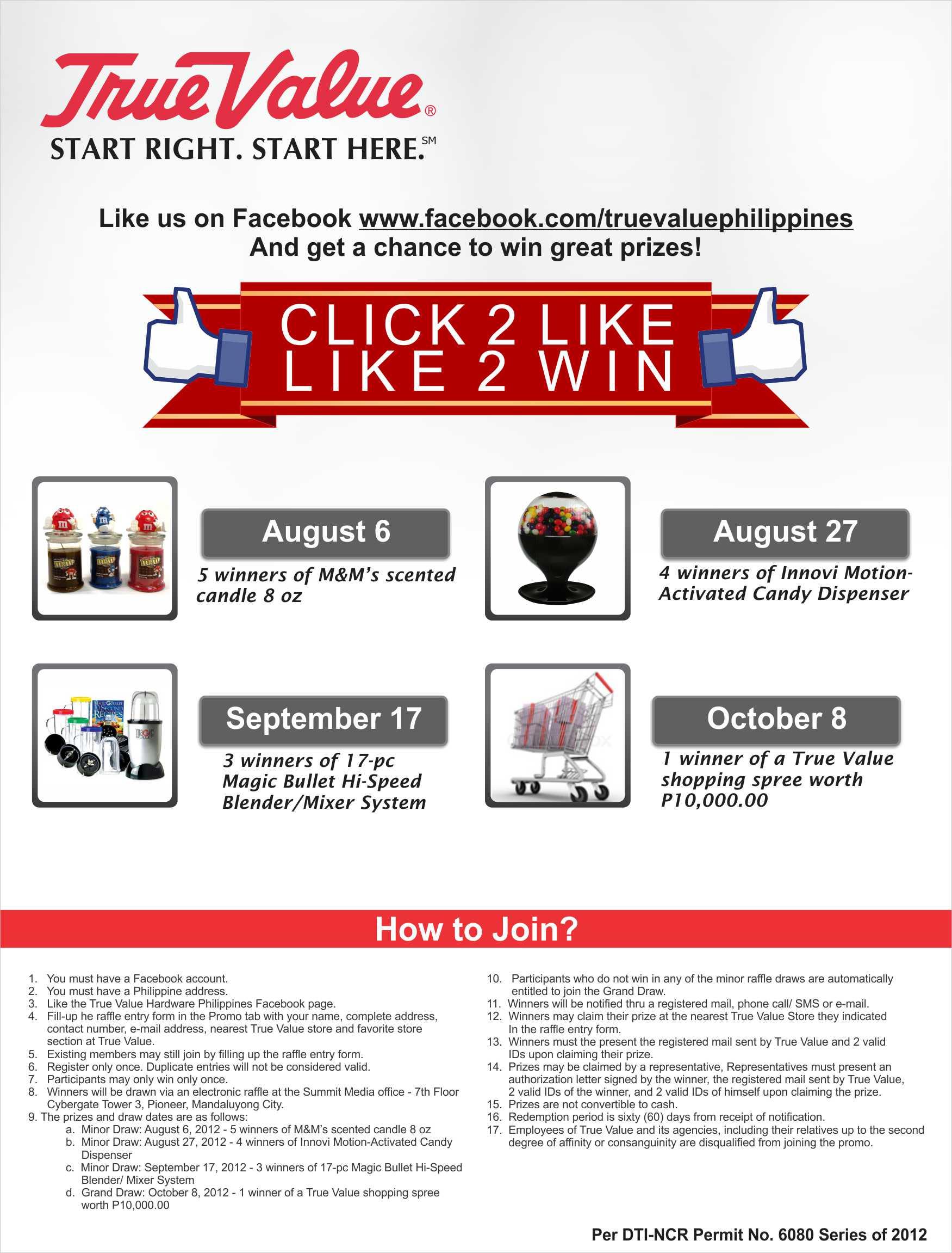 True Value FB Promo July - October 2012