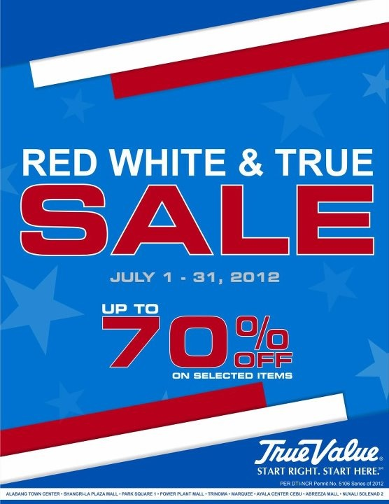 True Value Sale July 2012