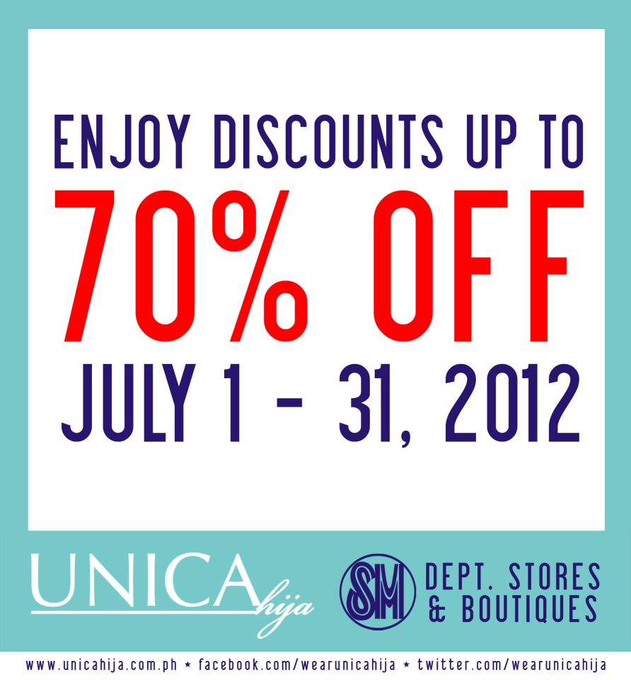 Unica Hija Sale July 2012