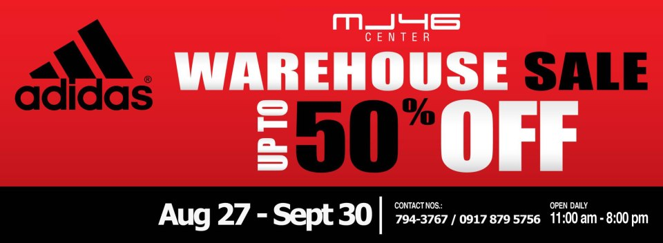 Adidas Warehouse Sale August - September 2012