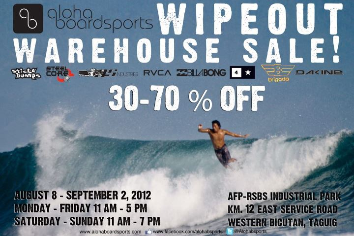 Aloha Boardsports Wipeout Warehouse Sale August 2012