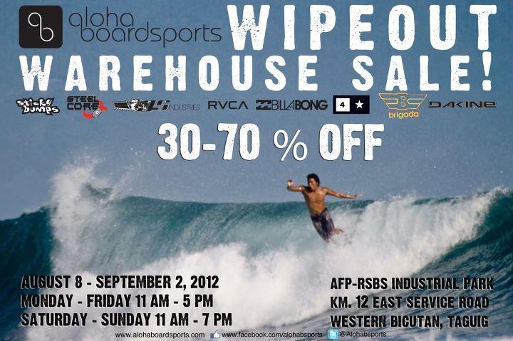 Aloha Boardsports Wipeout Warehouse Sale August 2012