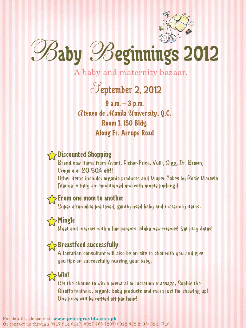 Baby Beginnings Bazaar August 2012