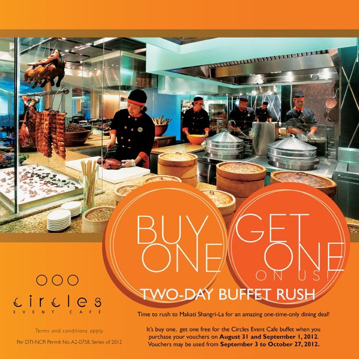 Circles Event Cafe Buy One Get One Two-Day Buffet Rush 2012
