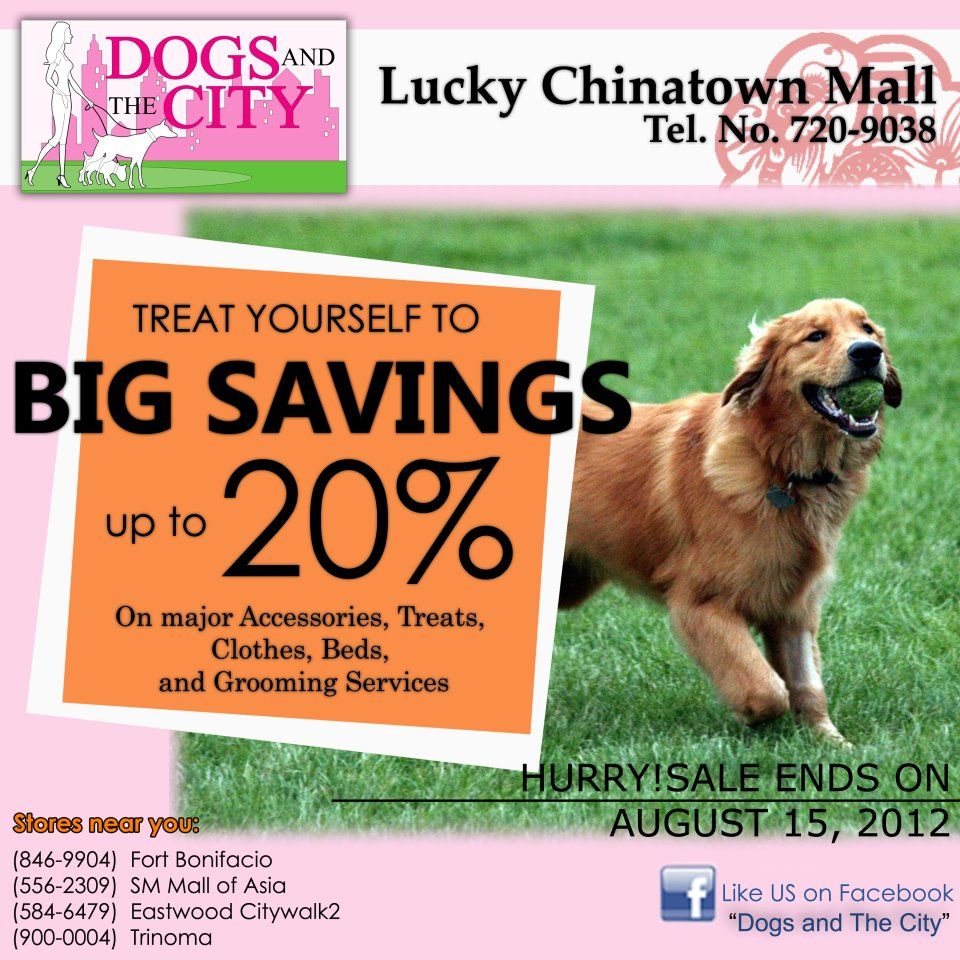 Dogs and the City Sale @ Lucky Chinatown Mall August 2012