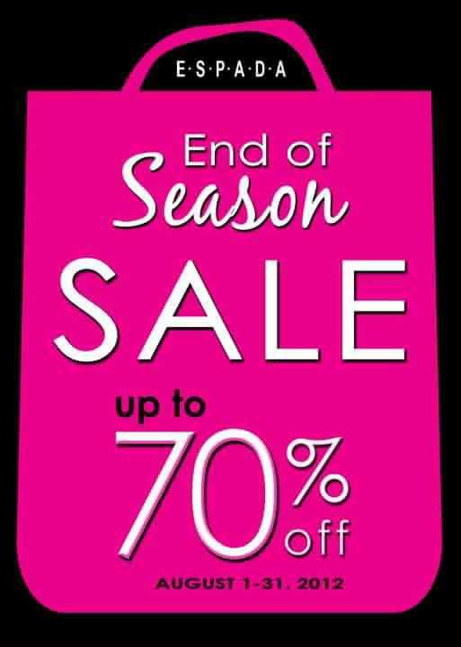 Espada End of Season Sale August 2012