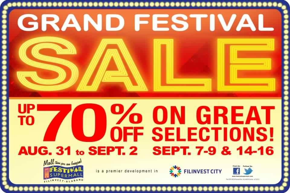 Festival Mall Sale August - September 2012
