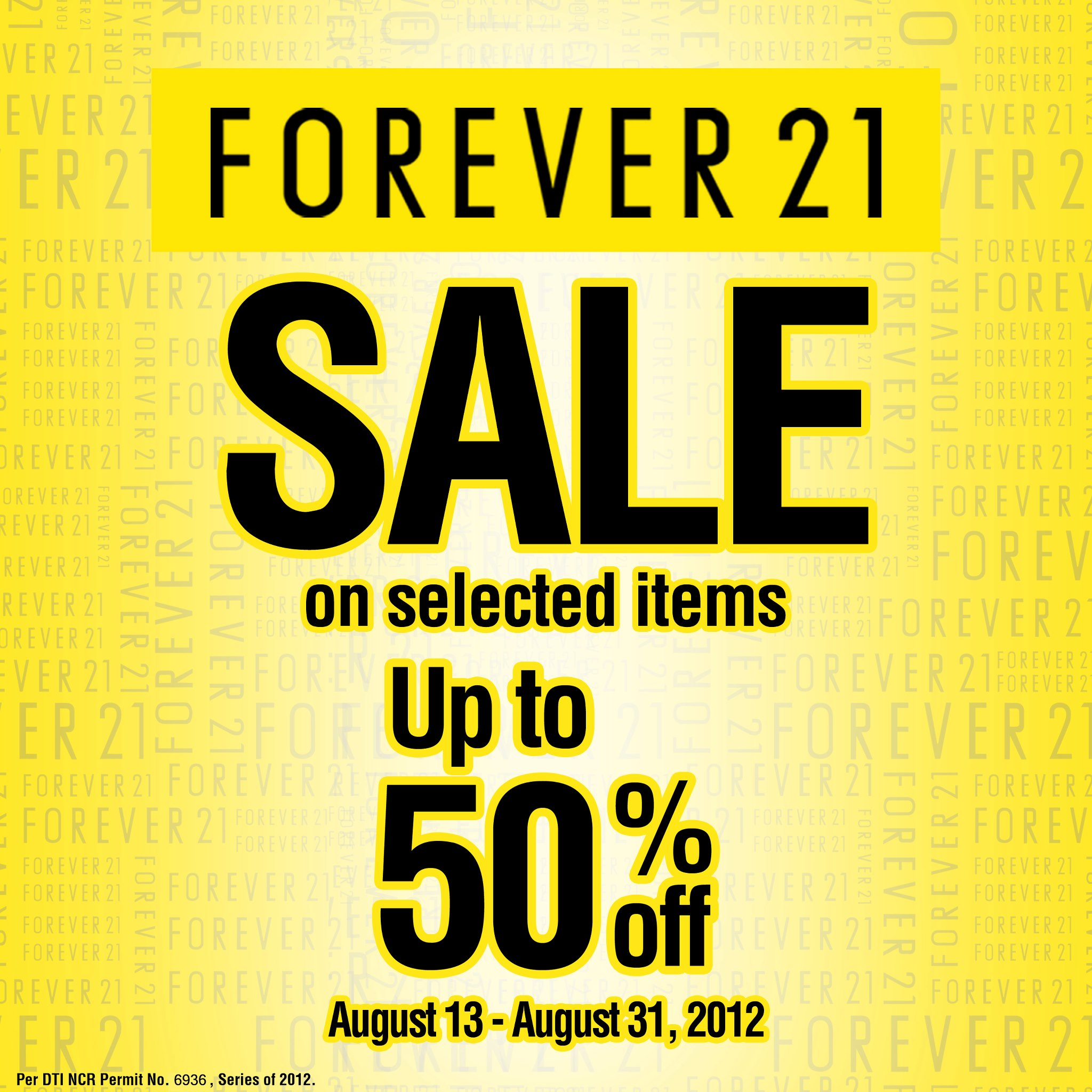 Forever 21 Sale August 2012