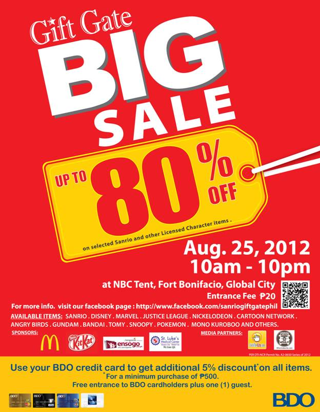 Gift Gate Big Sale @ NBC Tent August 2012