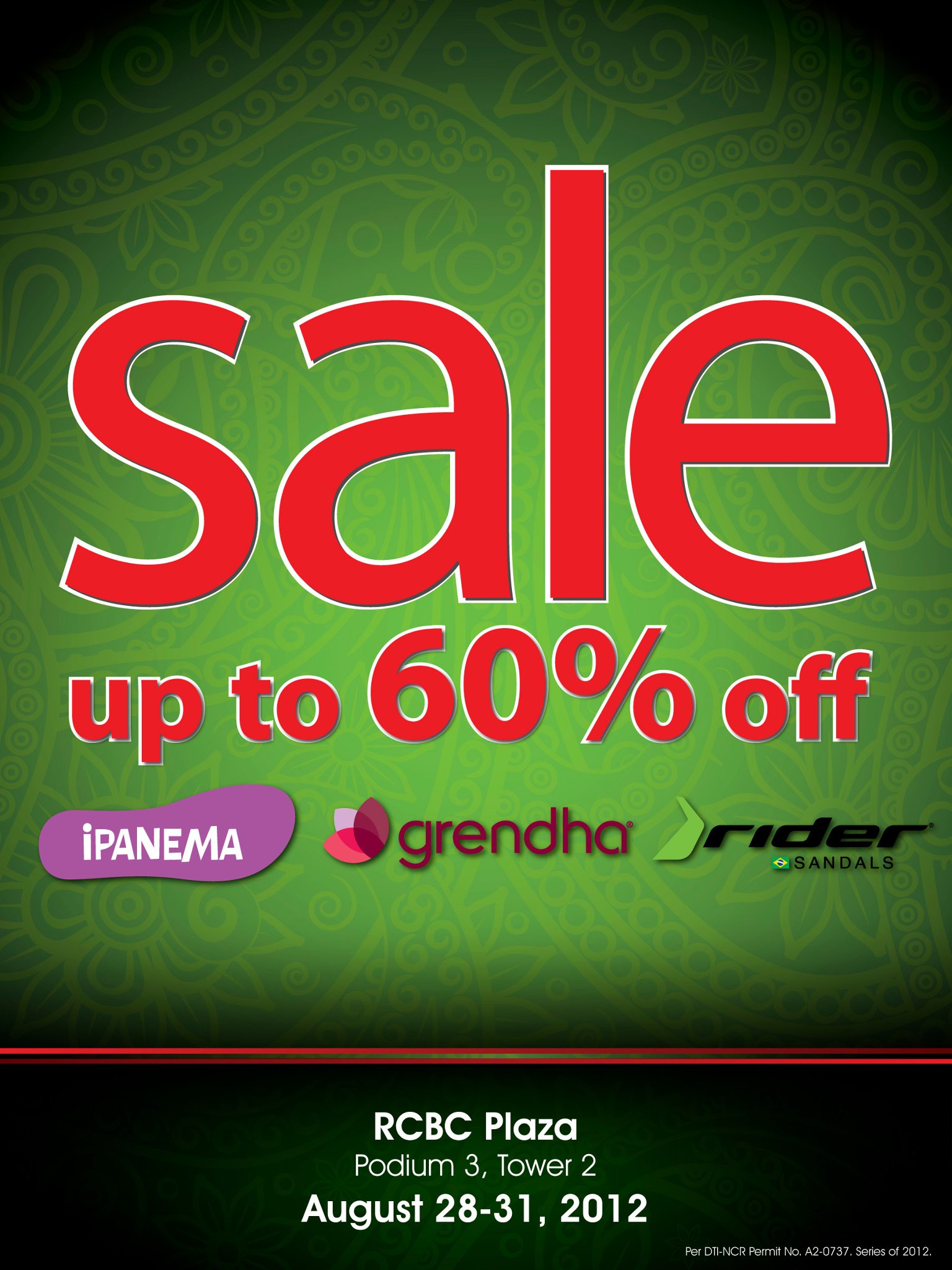 RCBC Plaza Sale - Ipanema, Grendha, Rider Sandals August 2012