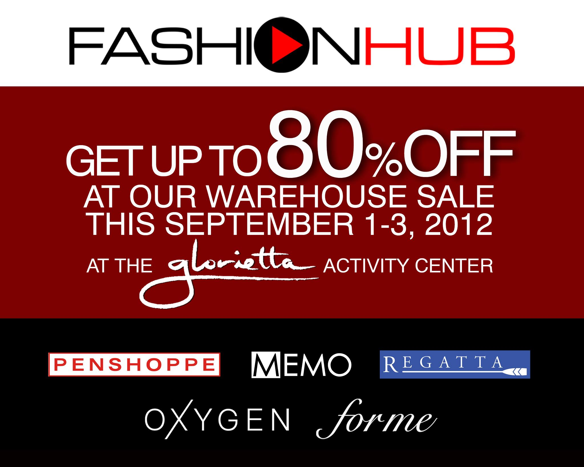 Penshoppe, Oxygen, Memo, Forme, Regatta Warehouse Sale September 2012