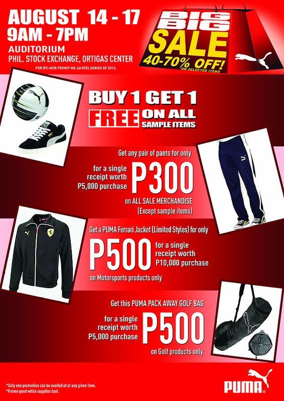 Puma Sale @ Philippine Stock Exchange August 2012