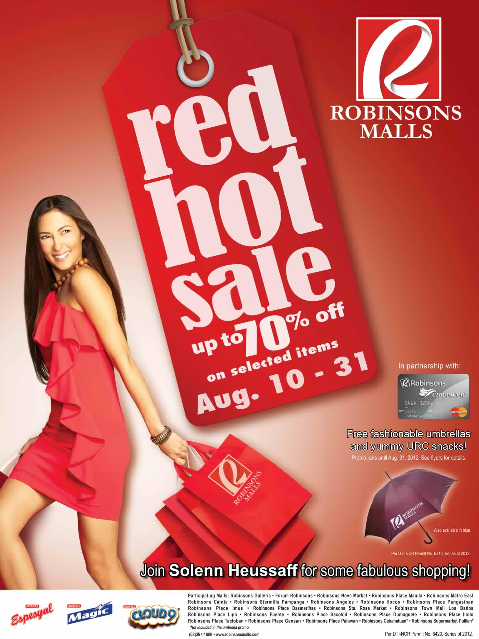 Robinsons Malls Red Hot Sale August 2012