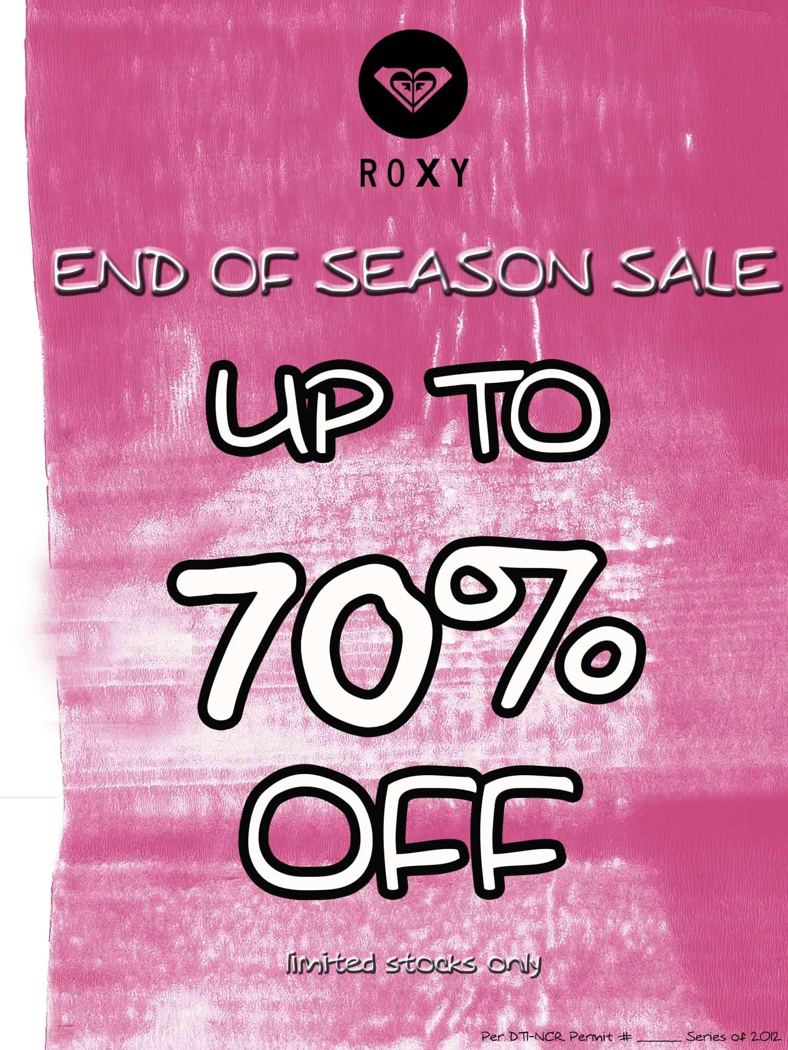 Roxy End of Season Sale August 2012