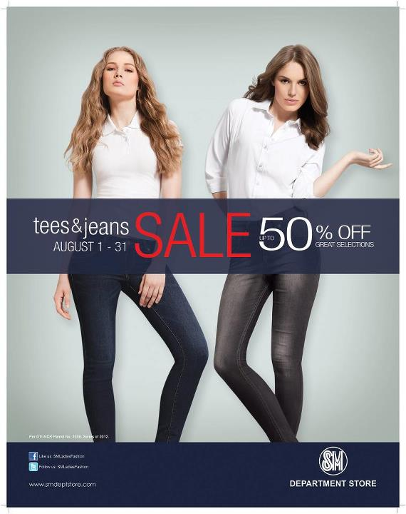 SM Dept Store Tees and Jeans Sale August 2012