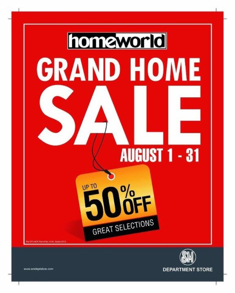SM Homeworld Grand Home Sale August 2012