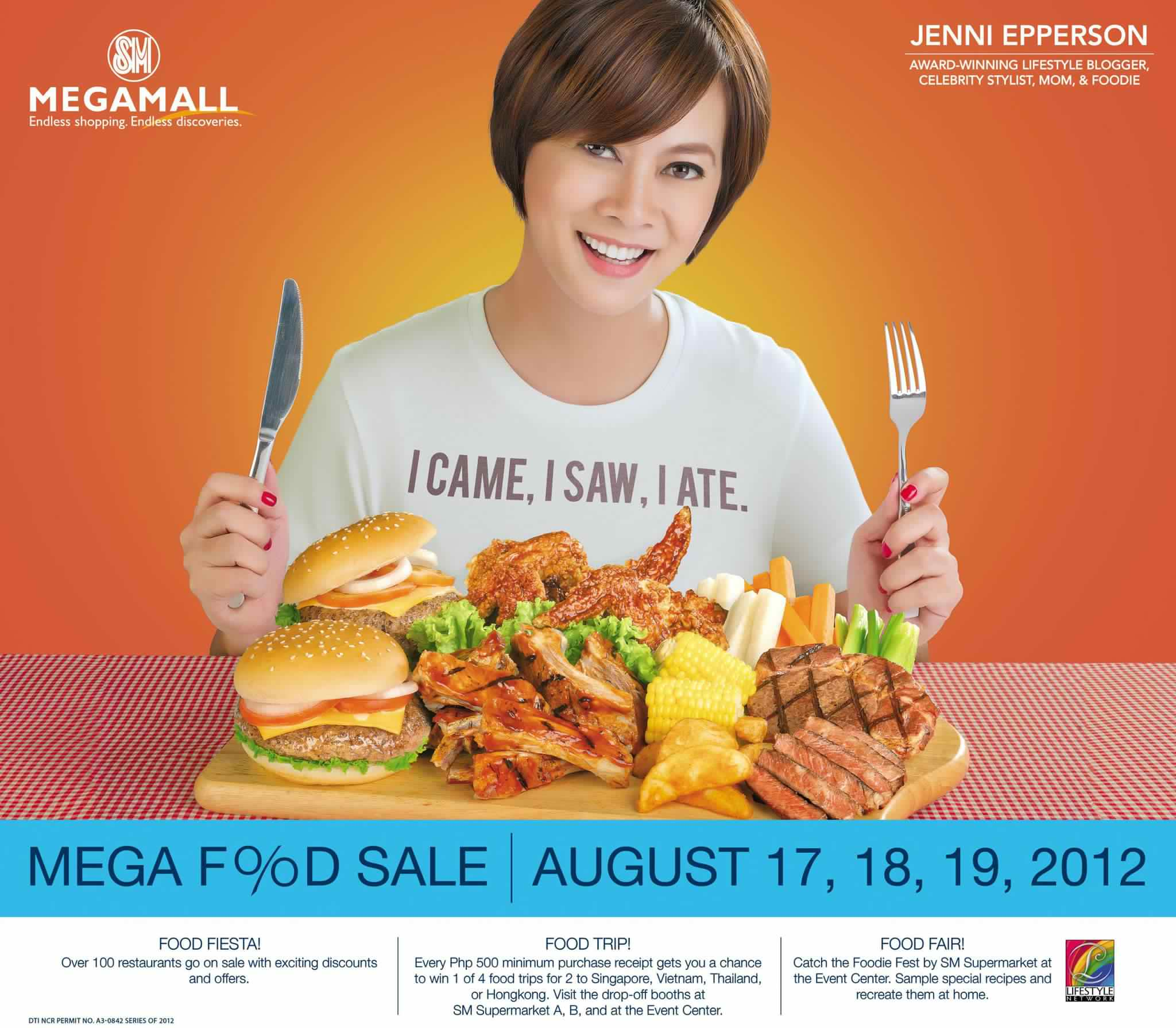 SM Megamall Mega Food Sale August 2012