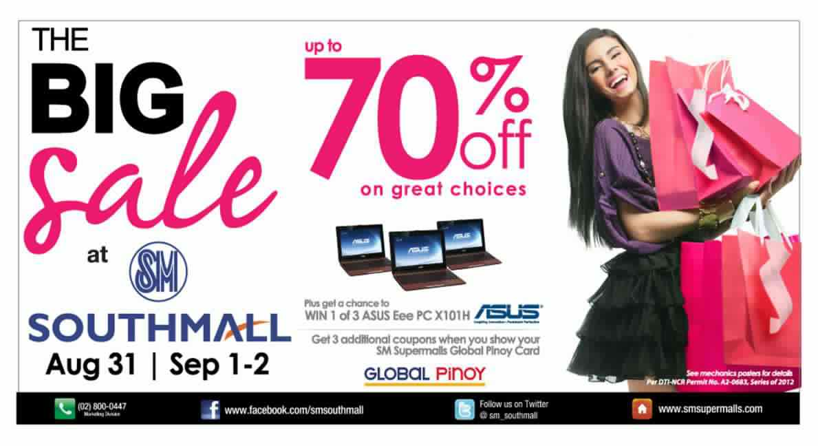 SM Southmall Big Sale August 2012