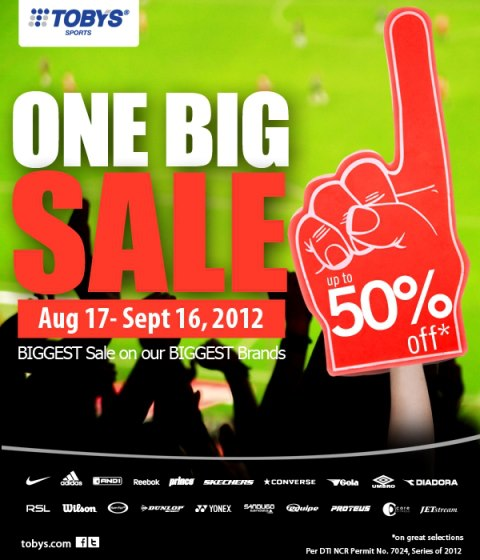 Toby's Sports One Big Sale August - September 2012