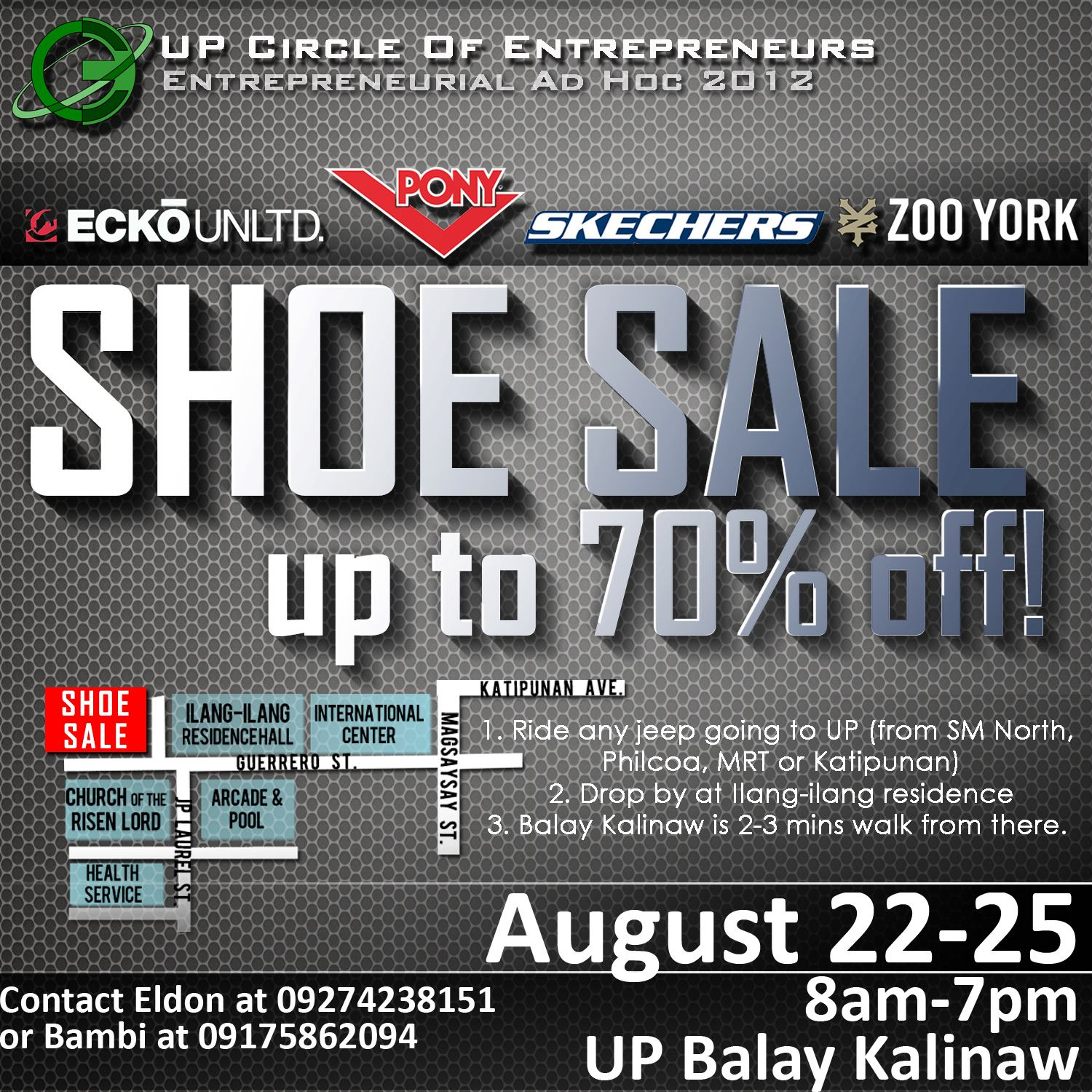Skechers, Pony, Ecko, Zoo York Sale @ UP Diliman August 2012