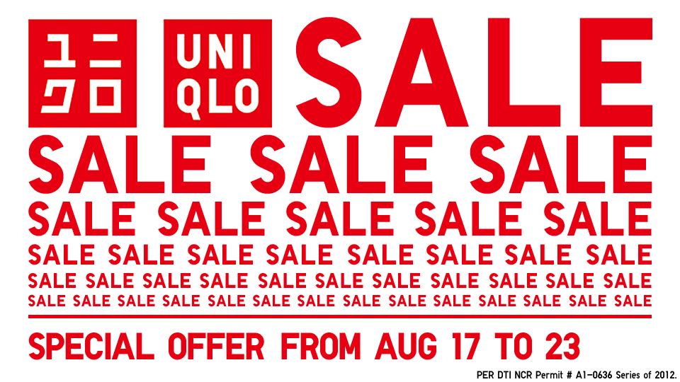 Uniqlo Sale August 2012