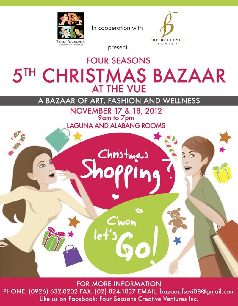 5th Christmas Bazaar @ The Bellevue Manila November 2012
