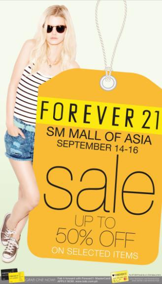 Forever 21 Sale @ SM Mall of Asia September 2012