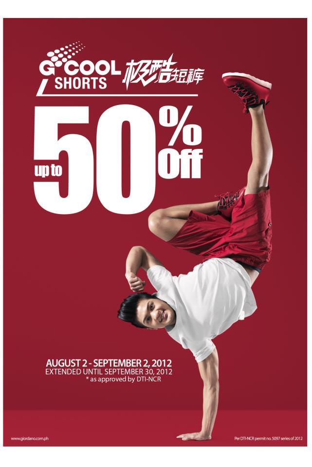 Giordano Shorts Sale September 2012