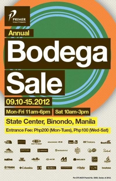 Primer Annual Bodega Sale September 2012