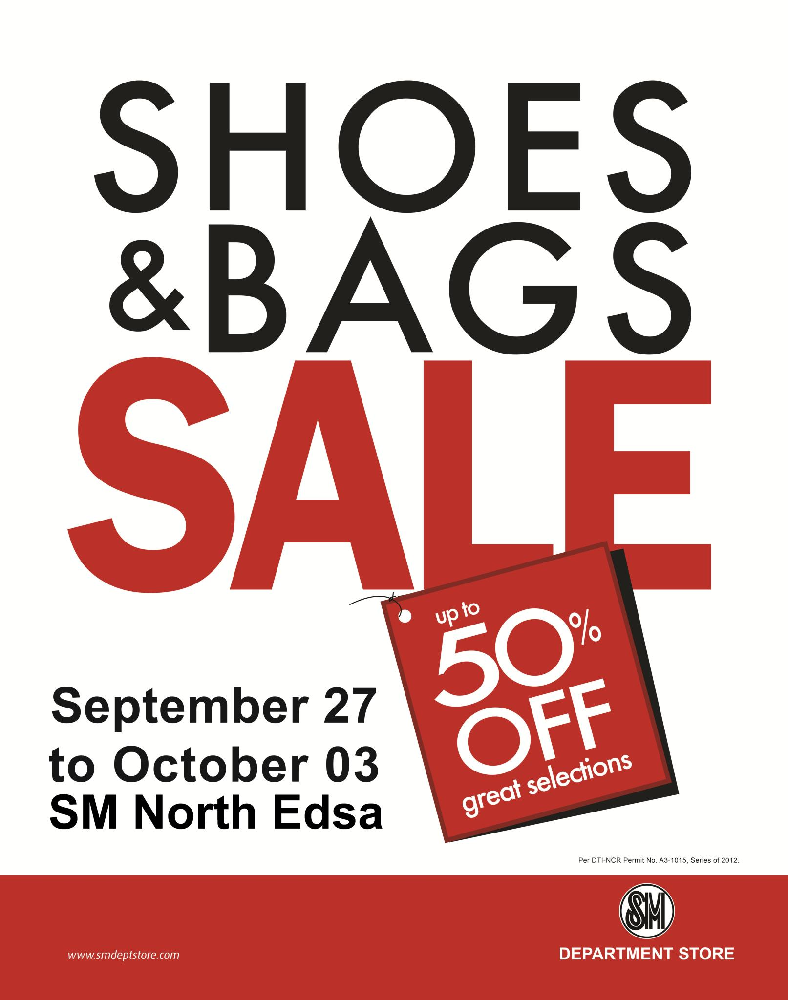 Shoes & Bags Sale @ SM City North Edsa September 2012