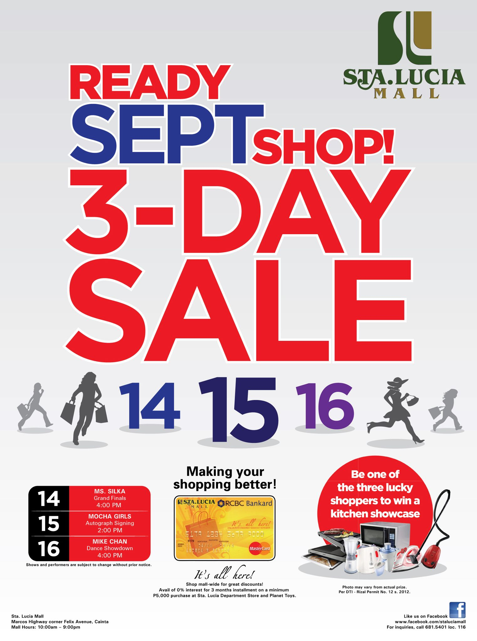 Sta. Lucia 3-Day Sale September 2012