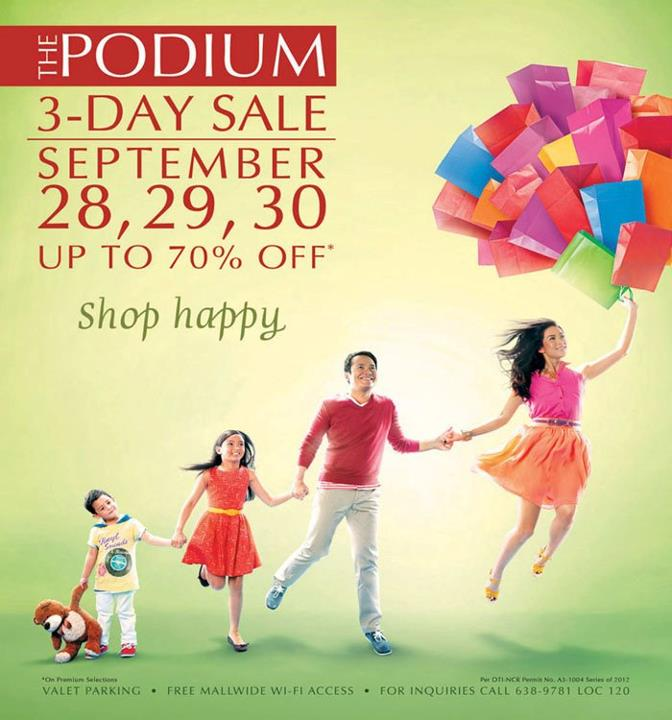 The Podium 3-Day Sale September 2012