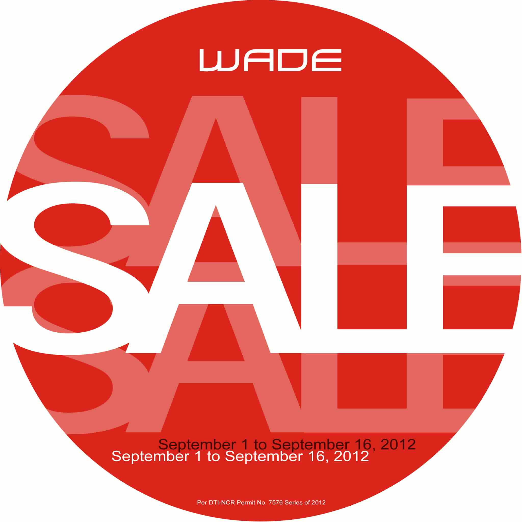 Wade Shoes Sale September 2012