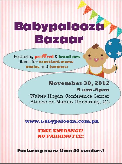 Babypalooza Bazaar November 2012