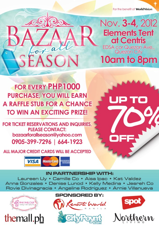 Bazaar For All Season @ Eton Centris November 2012