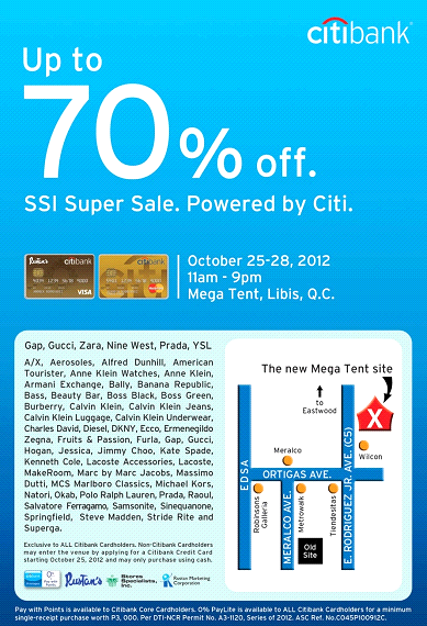 Citibank SSI Super Sale @ SM Megatrade Hall October 2012