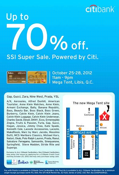 Citibank SSI Super Sale @ SM Megatrade Hall October 2012