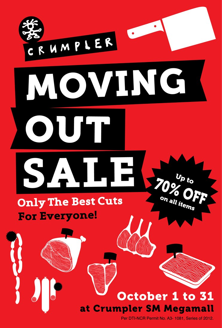 Crumpler SM Megamall Moving Out Sale October 2012