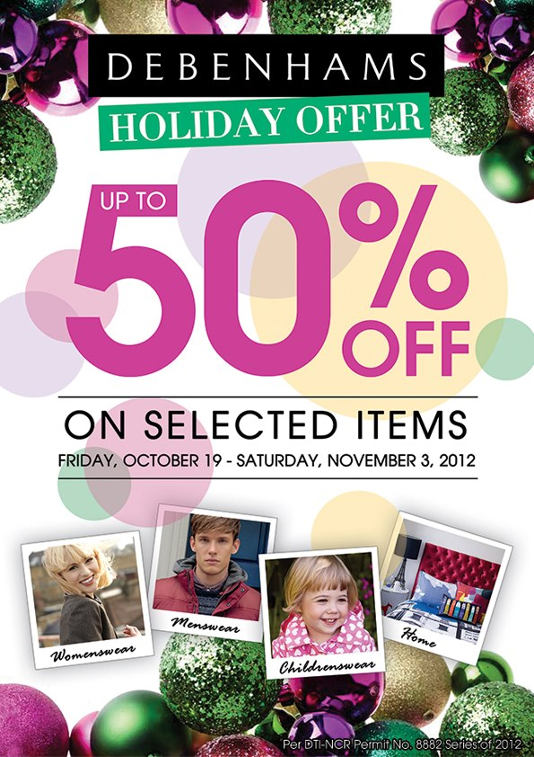 Debenhams Holiday Sale October - November 2012