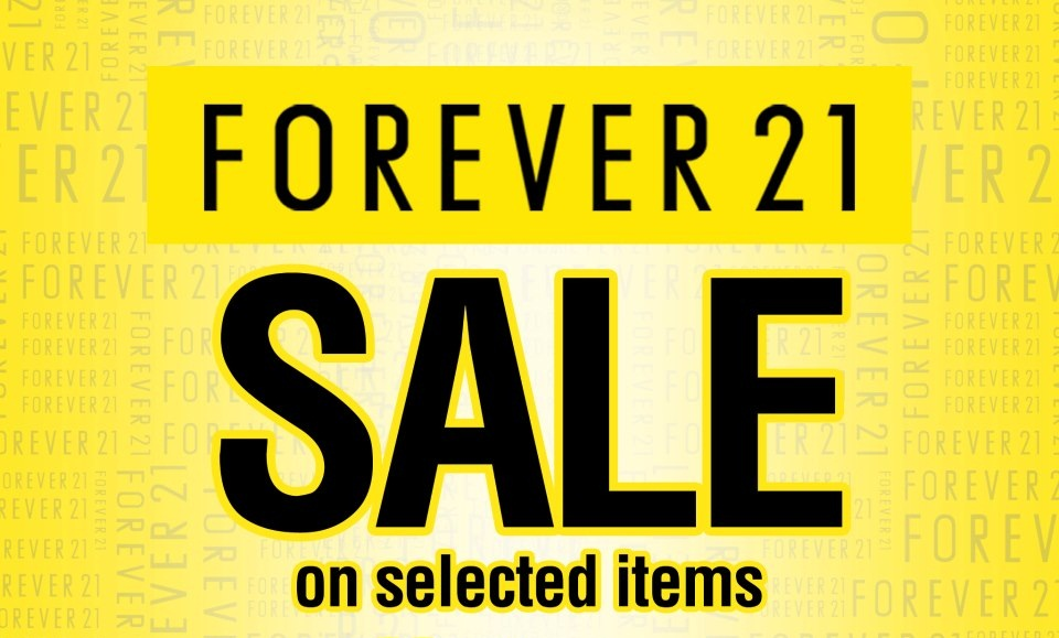 Forever 21 Pre-Holiday Sale @ SM Megamall October - November 2012