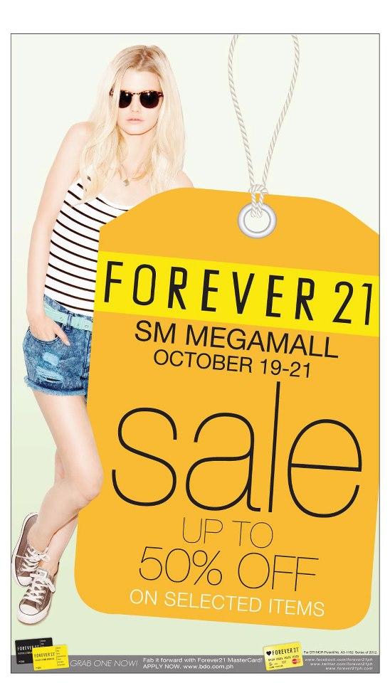 Forever 21 @ SM Megamall Sale October 2012