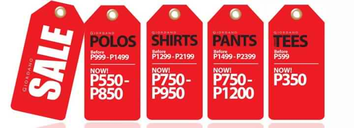 Giordano Clearance Sale October 2012