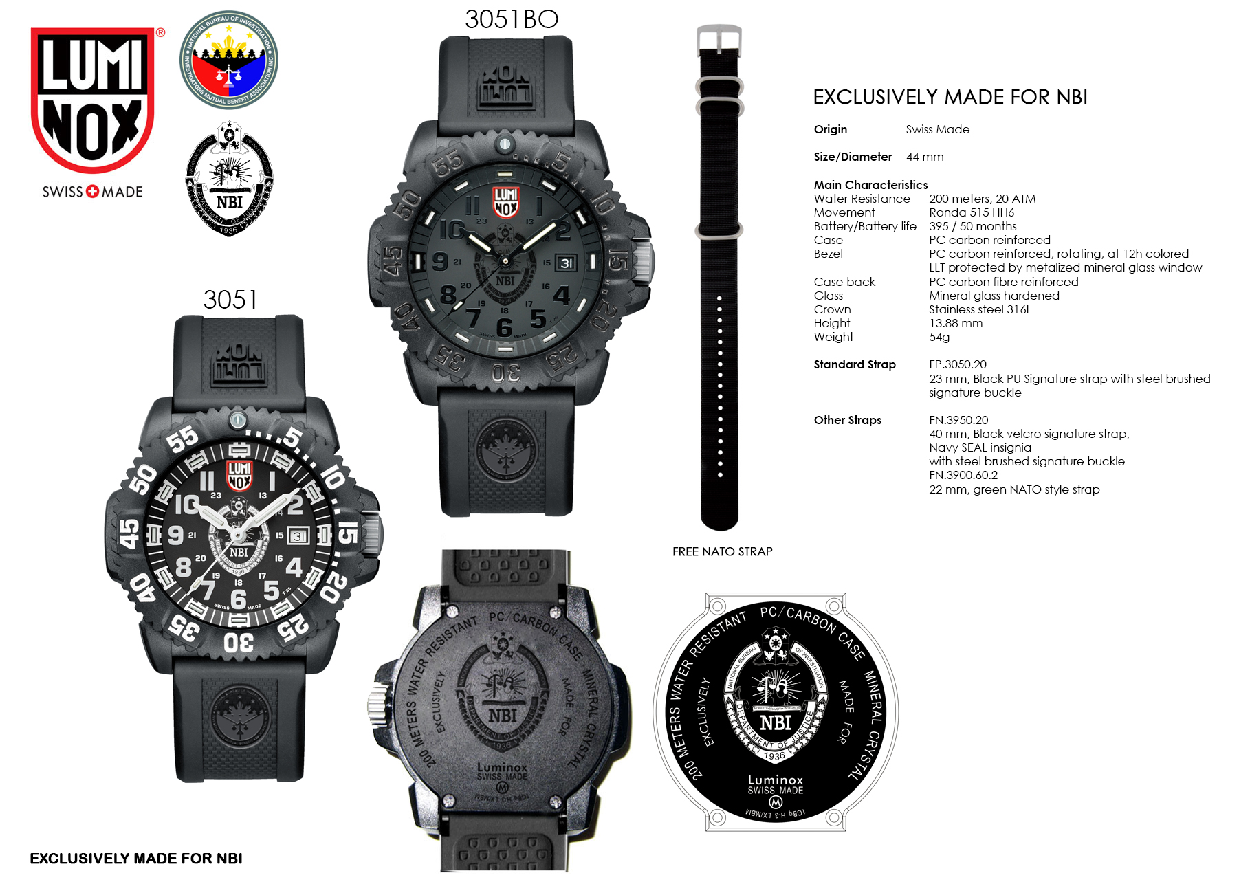Limited edition NBI wristwatch by Luminox exclusively at Multiply.com